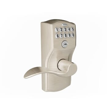 Photo-realistic computer-generated rendering of a Schlage Lock keypad entry handleset
